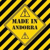 Gemaakt in Andorra royalty-vrije illustratie