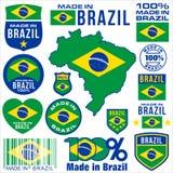 Gemaakt in BRAZILIË stock illustratie