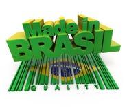 Gemaakt in Brazilië, kwaliteit Royalty-vrije Stock Foto