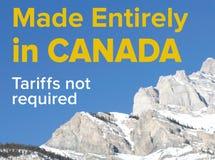 Gemaakt in Canada - geen vereiste tarieven royalty-vrije stock foto's