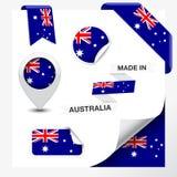 Gemaakt in de Inzameling van Australië Stock Foto's
