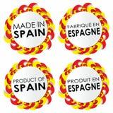 Gemaakt in de Kentekens van Spanje Stock Afbeelding