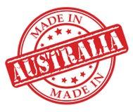 Gemaakt in de rode rubberzegel van Australië Stock Foto