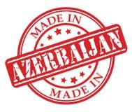 Gemaakt in de rode rubberzegel van Azerbeidzjan Stock Fotografie