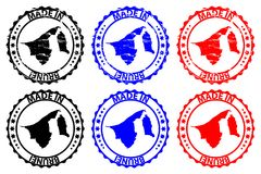Gemaakt in de rubberzegel van Brunei Stock Fotografie