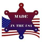 Gemaakt in de ster van de V.S. Stock Foto