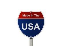 Gemaakt in de V.S. teken tusen staten stock afbeeldingen
