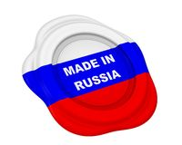 Gemaakt in de waszegel van Rusland royalty-vrije illustratie
