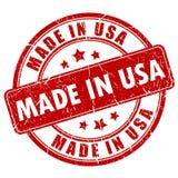 Gemaakt in de zegel van de V.S. stock illustratie