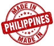 gemaakt in de zegel van Filippijnen royalty-vrije illustratie