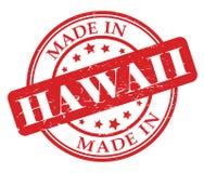 Gemaakt in de zegel van Hawaï Royalty-vrije Stock Foto's