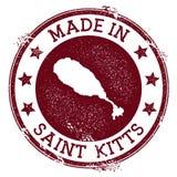Gemaakt in de zegel van Heilige Kitts stock illustratie
