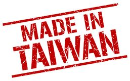 Gemaakt in de zegel van Taiwan stock illustratie