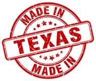 Gemaakt in de zegel van Texas Stock Foto
