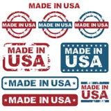 Gemaakt in de zegels van de V.S. Stock Foto