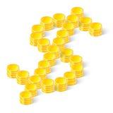 Gemaakt dollarteken?? van muntstukken Royalty-vrije Stock Foto's
