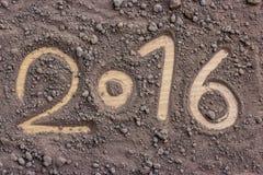 2016 gemaakt door grond Nieuw jaar 2016 concept Royalty-vrije Stock Foto