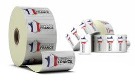 Gemaakt in Frankrijk, Stickers vector illustratie
