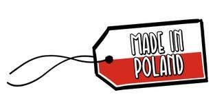 Gemaakt in het Etiket van Polen stock illustratie