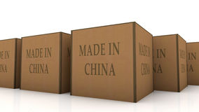Gemaakt in het karton van China Stock Foto's