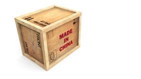 Gemaakt in het Krat van China stock illustratie