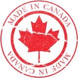 Gemaakt in het Overdrukplaatje van Canada Stock Afbeelding