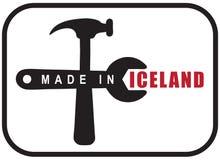 Gemaakt in IJsland stock illustratie