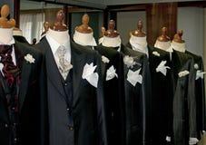 Gemaakt in Italië: gemaakte kostuums voor mensen Stock Foto