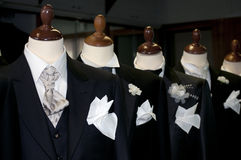 Gemaakt in Italië: gemaakte kostuums voor mensen Stock Foto's