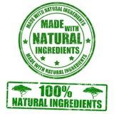 Gemaakt met natuurlijke ingrediëntenzegels Stock Afbeelding