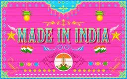 Gemaakt op de Achtergrond van India vector illustratie