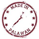 Gemaakt in Palawan-zegel stock illustratie
