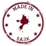 Gemaakt in Sark-zegel stock illustratie