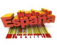 Gemaakt in Spanje, kwaliteit Stock Afbeelding