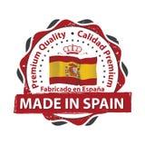 Gemaakt in Spanje, Premiekwaliteit Royalty-vrije Stock Afbeelding