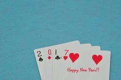 2017 gemaakt uit speelkaarten Royalty-vrije Stock Foto