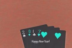 2017 gemaakt uit speelkaarten Royalty-vrije Stock Afbeelding