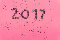 2017 gemaakt van confettien Royalty-vrije Stock Foto's