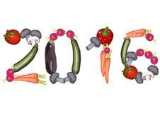 2016 gemaakt van diverse groenten Stock Foto