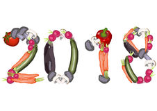 2018 gemaakt van diverse groenten Stock Fotografie