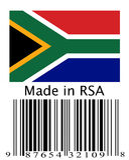 Gemaakt in Zuid-Afrika. royalty-vrije stock foto's