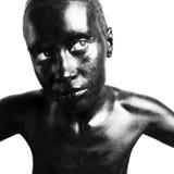 Gemaakte omhoog zwarte Royalty-vrije Stock Fotografie