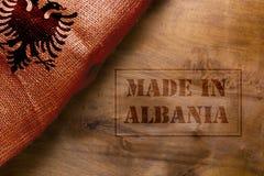 Gemacht in Albanien Lizenzfreie Stockbilder
