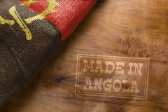 Gemacht in Angola Lizenzfreie Stockfotos
