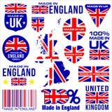 Gemacht in BRITISCHEM ENGLAND Lizenzfreies Stockfoto