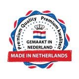 Gemacht in den Niederlanden, erstklassiger Qualitätsstempel Lizenzfreie Stockbilder