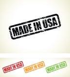Gemacht in den USA-Stempeln Lizenzfreie Stockbilder