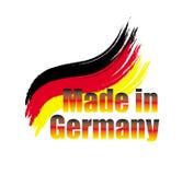 Gemacht in der Deutschland-Vektorflagge Lizenzfreie Stockbilder