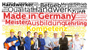 Gemacht in Deutschland-Tag-Cloud stockfotos