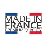 Gemacht in Frankreich, erstklassiger Qualitätsaufkleber mit französischer Farbe Lizenzfreie Stockfotos